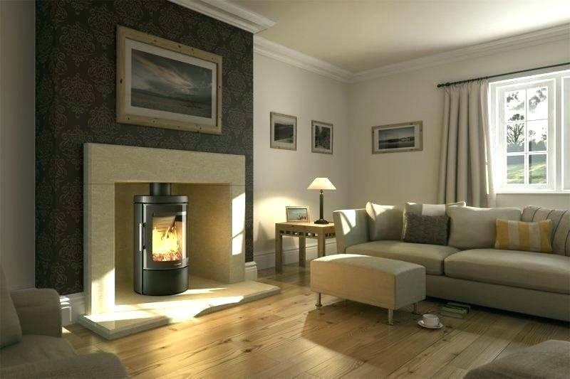 Một chiếc lò sưởi đơn giản, nhưng lại giúp căn phòng trở nên ấm cúng với ánh lửa