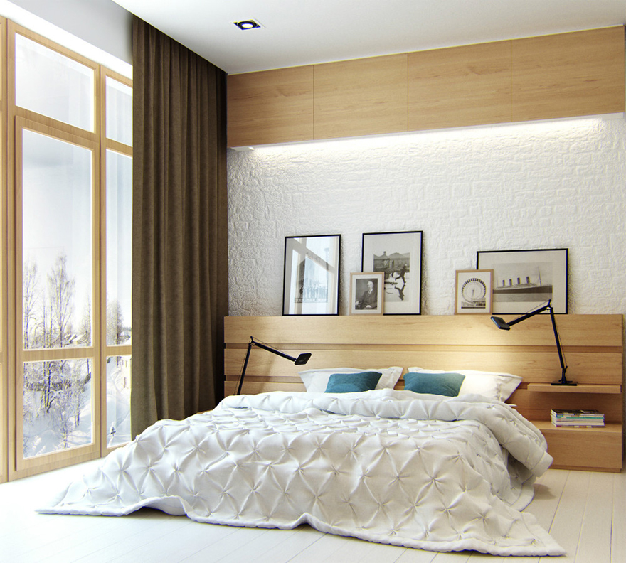 Phòng ngủ đơn giản nhưng đem lại hiểu quả thẩm mỹ cao