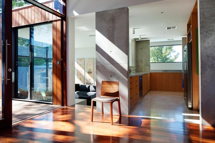 Chất liệu bê tông, kính rất dễ tìm thấy trong các thiết kế hiện đại