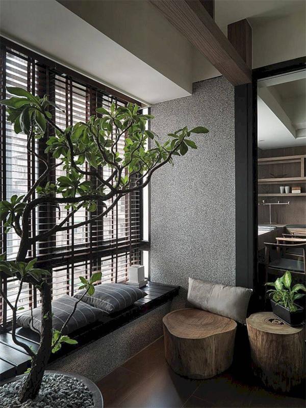 Gỗ luôn là chất liệu chủ đạo trong ngôi nhà mang phong cách Nhật
